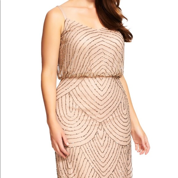 Adrianna Papell Dresses & Skirts - NWT Adrianna Papell Art Deco Blouson Beaded Gown